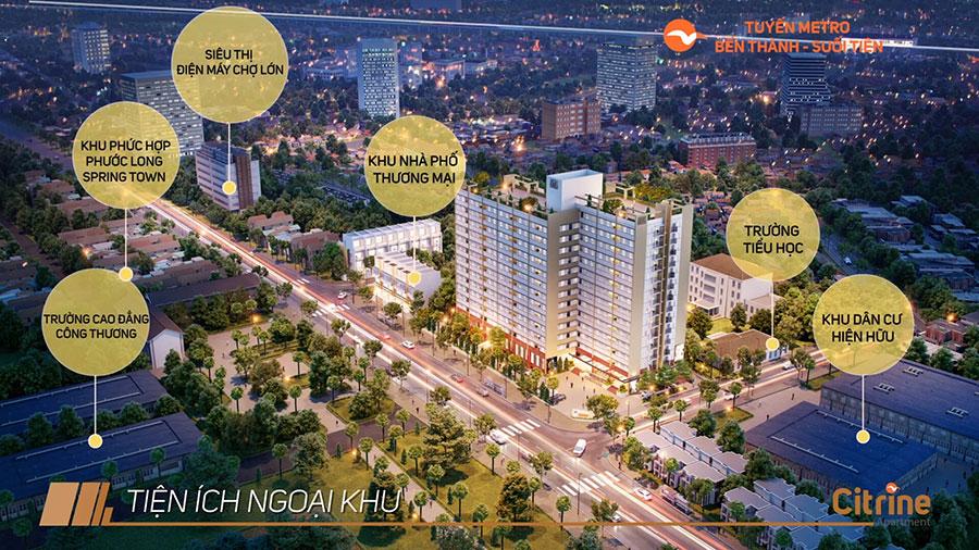 Tiện ích dự án Citrine Apartment Quận 9