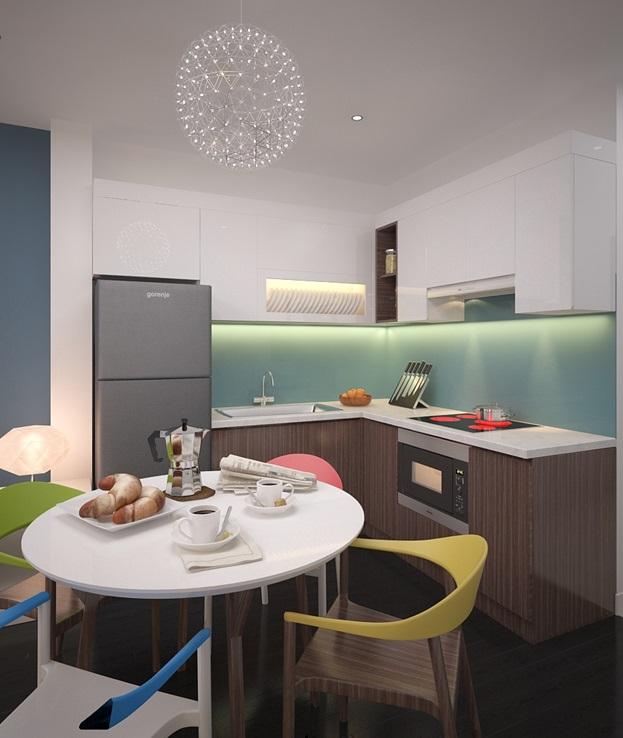 Trang trí phòng bếp căn hộ chung cư