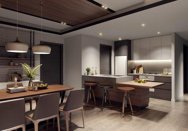 Thiết kế phòng bếp căn hộ chung cư