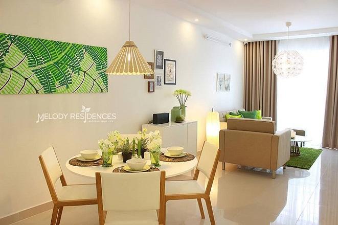 Giá cho thuê căn hộ chung cư Melody Residence Quận Tân Phú hiện tại