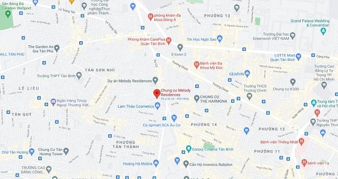Phân tích về vị trí của chung cư Melody Residence Âu Cơ