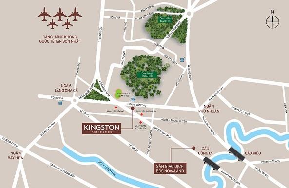 Vị trí địa lý của dự án chung cư Kingston Residence